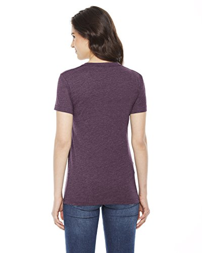 shirt Apparel Da Plum cotton T Donna Poly Heather American XqwId1q