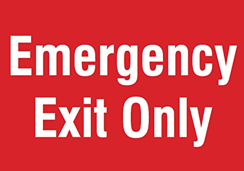 Emergency Exit Only Red Sign - Business Door Warning Directional Signs