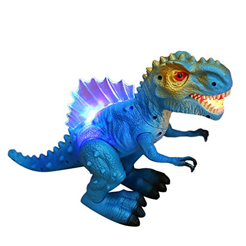 Birdfly Walking Dragon Toy Sound Simulation Lighting Music Tyrannosaurus Dinosaur Christmas Toy for Children (Blue)