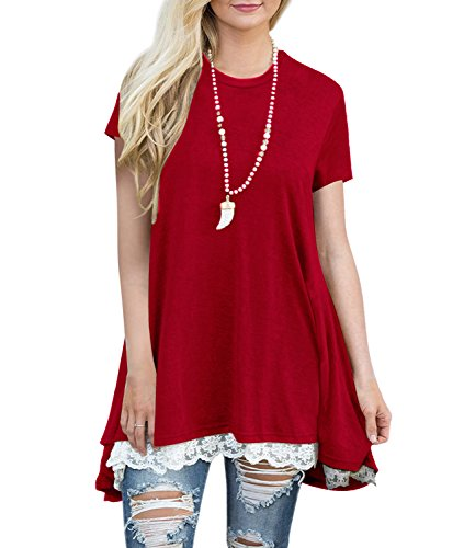 Angerella Womens Blouses and Tops for Work Loose Summer Tunic Tops ()