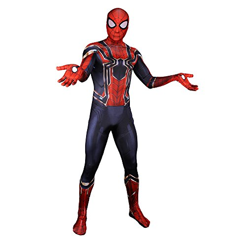 - 41UFgM5Zt5L - GERGER BO Spiderman Homecoming Costume,Unisex Lycra Spandex Zentai Halloween Cosplay Costumes Adult/Kids 3D Style
