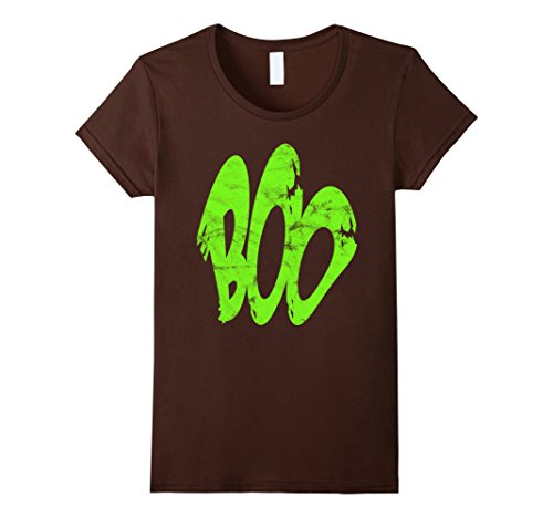 Womens Boo Spooky Slime Green Ghost Costume Halloween 2017 T-Shirt Medium Brown (Homemade Halloween Costumes Ideas For 2017)