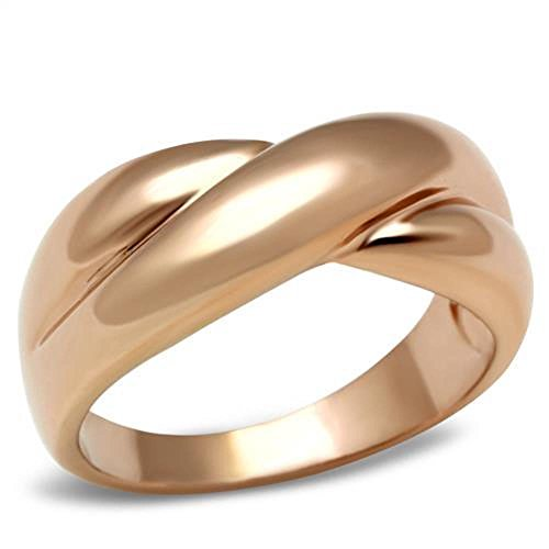 Bride Costume Target - Brass Ring IP Rose Gold Fashion Ring (6)