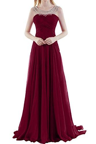 Missdressy -  Vestito  - plissettato - Donna rosso scuro 44
