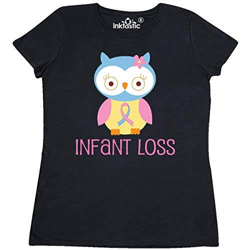 inktastic Infant Loss Awareness Owl Women's T-Shirt Small Black (Sids Pregnancy And Infant Loss Awareness Month)