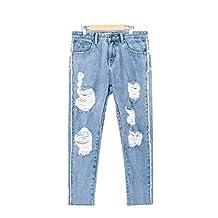 Anthony Keller Girls' Female BF Wind Cowboy Harem Pants Loose Jeans
