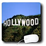 3dRose LLC 8 x 8 x 0.25 Inches Mouse Pad, Famous Sign in the Hollywood Hills (mp_101719_1)