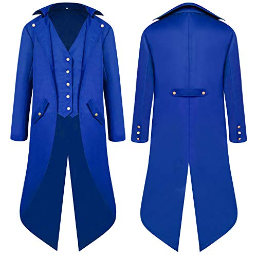 Men's Steampunk Vintage Tailcoat Jacket Gothic Victorian Medieval Halloween Costume Coat ()