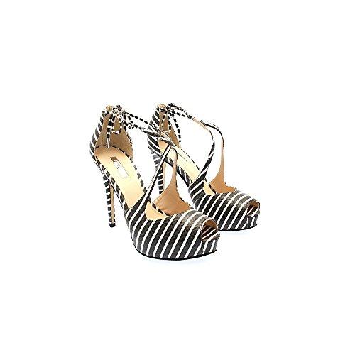 vestir Guess Nero para Bianco Varios mujer Zapatos de Strisce Colores rW7nrO
