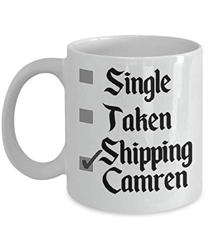 Single Taken Shipping Camren Fifth Harmony Coffee Mug, Funny, Cup, Tea, Gift For Christmas, Father's day, Xmas, Dad, Anniversary, Mother's day, Papa,