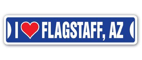 I Love Flagstaff, Arizona Street [3 Pack] of Vinyl Decal Stickers | 1.5