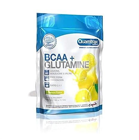 QUAMTRAX DIRECT BCAA 2:1:1 + GLUTAMINE 500gr Limon Glutamina Bcaa: Amazon.es: Salud y cuidado personal