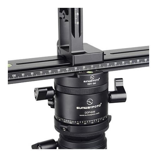 SunwayFoto PANO-1 Panoramic Head Kit, DYH-66i Base, DDP-64M Rotator, 64mm/58mm Clamp, DPG-2416 Rail, DMP-200L Slide, DDH-03 Clamp, DMC-200L Rail, DPL-01 Plate