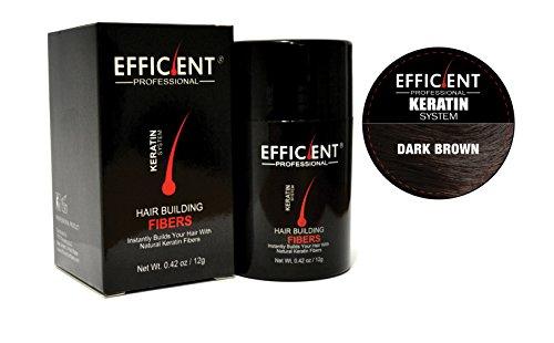 Hsr Perfect Effect - EFFICIENT Keratin Hair Building Fibers, Hair Loss Concealer Net Wt. 12gm/0.42 oz (Dark Brown)