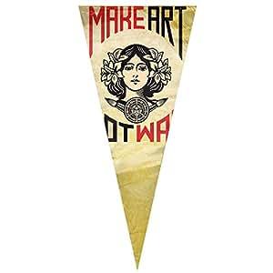 """Deporte Hacer Arte, No La Guerra bandera Sing capa triángulo translúcido bandera vertical 12""""x30"""""""