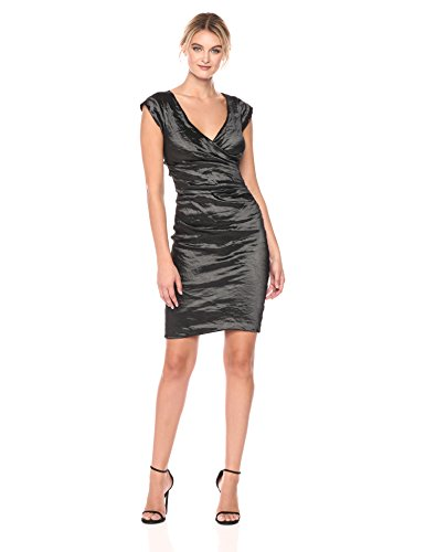 Nicole Miller Women's Beckett Techno Metal Dress, Black, 2 from Nicole Miller