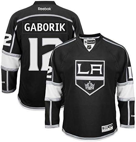 Marian Gaborik Los Angeles Kings NHLリーボックブラック公式プレミアホームジャージーメンズの
