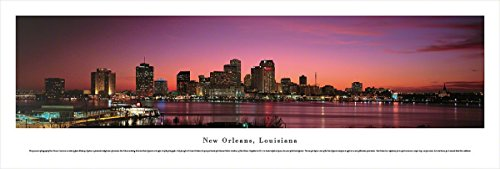 New Orleans, Louisiana at Sunset - Blakeway Panoramas Unframed Skyline - Sunset In Mn Times