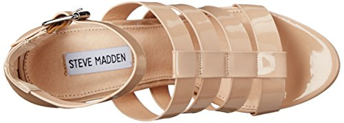 Steve Madden Groove Mujer US 8 Crema Sandalia Plataforma