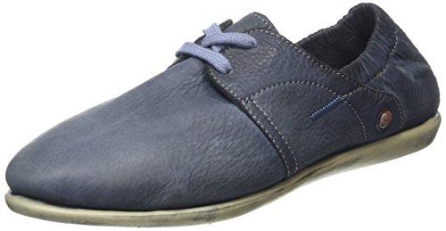 Softinos VEY900276SOF - Zapatos con cordones, Mujer Azul (Navy)