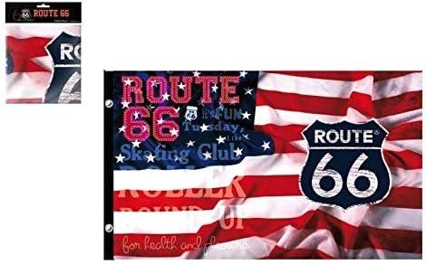 70x140 cm LimeWorks Drap de Bain Motif Route 66 Californie