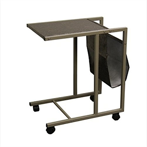 Ore International FW1369 Laptop Cart (Black/Gold Marble Print), 24.5-Inch (FW1369) by ORE