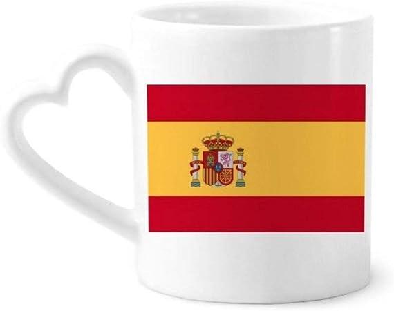 DIYthinker españa Bandera Nacional Europa país de café de la cerámica Taza de cerámica con la manija 12 oz Regalo del corazón: Amazon.es: Hogar