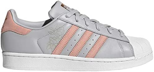 adidas Women's Superstar Trainers, GreyTrace PinkFootwear