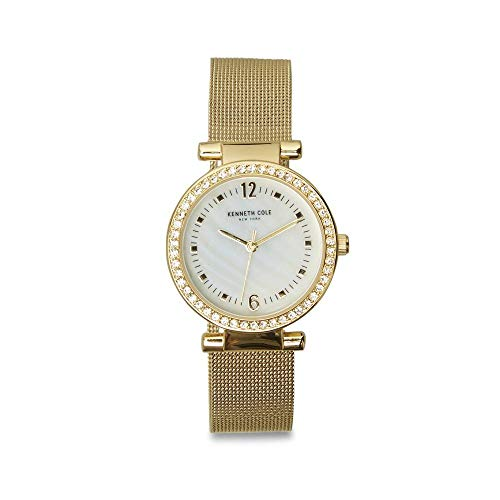 Kenneth Cole New York Women's 'Classic' Quartz Stainless Steel Watch, Color:Gold-Toned (Model: KC50740001