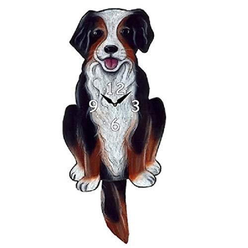 Bernese Mountain Dog Dog Wagging Pendulum Clock