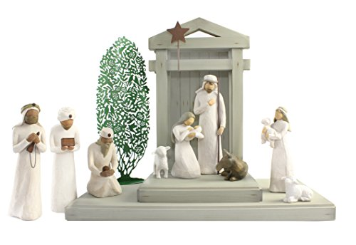 Maven Gifts: Willow Tree - Nativity Scene w/ Three Wiseman, (Christmas Tree Silhouette)