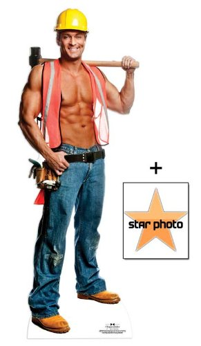 *FAN PACK* - Billy Construction Worker Outfit - Chippendales Lifesize Cardboard Cutout / Standee - INCLUDES 8X10 (25X20CM) STAR PHOTO - FAN PACK #335