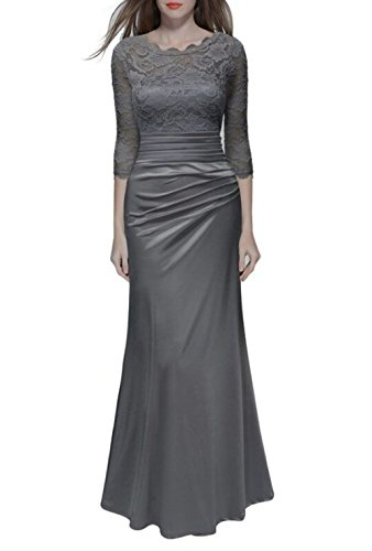 Gray Long Dress - 8