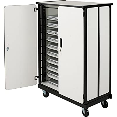 DMD Laptop Charging and Storage Cart, Mobile Charging Station with Locking Security Cabinet, Stores up to 20 Devices