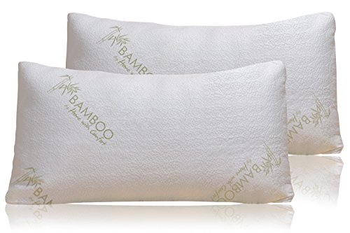 dded Memory Foam - Stay Cool Removable Cover With Zipper - Hotel Quality Hypoallergenic Pillow Relieves Snoring, Insomnia, Neck Pain, TMJ, and Migraines (2 PK Kings) (Rattan Pillow)