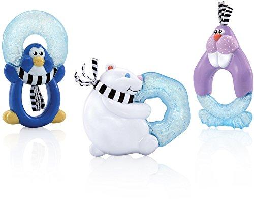 Nuby ID453 - KühlbeißfigurFreunde, gefüllt mit Eisgel, Motiv nicht frei wählbar gefüllt mit Eisgel Nûby