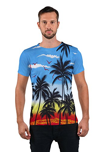 Corta shirt Stampa T Hawaii Manica Informale 2 Tees Idgreatim Unisex Graphic 3d Animalier pqaYY68x