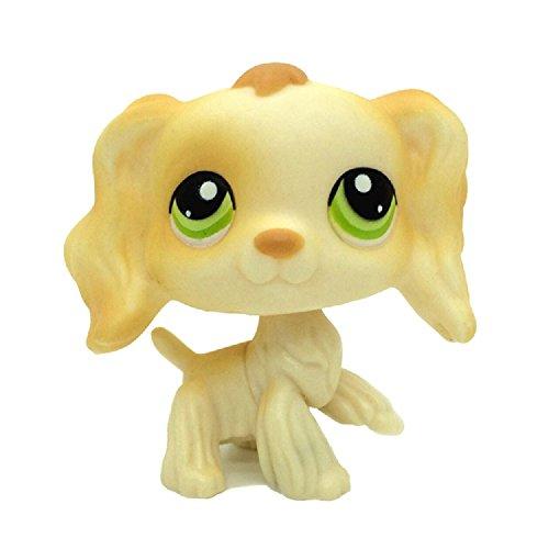 (kenven Littlest Pet Shop Collection LPS #347 Cream Spaniel Cocker Puppy Dog Figure Toys)