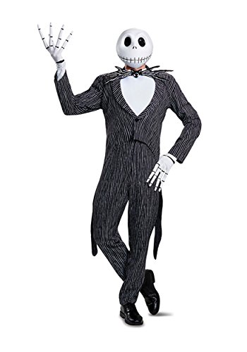 Disney Men's Jack Skellington Prestige Adult Costume, Multi, -