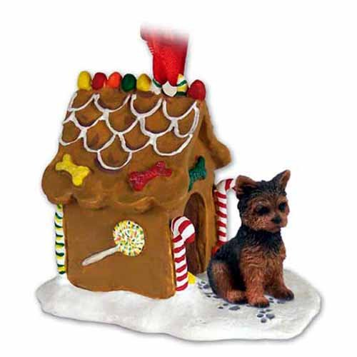 - Conversation Concepts Yorkshire Terrier Gingerbread House Christmas Ornament Puppy Cut - DELIGHTFUL!