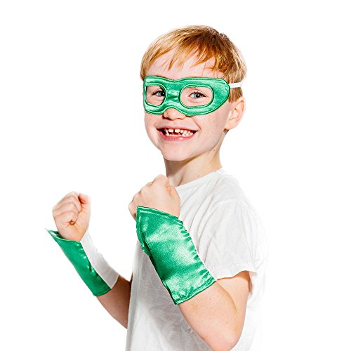 Green Superhero Eye Mask and Powerbands -