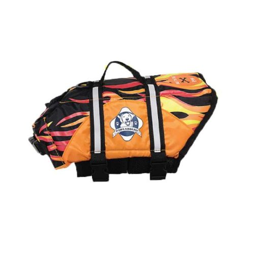Paws Aboard Dog Life Jacket Extra Large Flame Over 90 lbs (Set of 6) by Paws Aboard