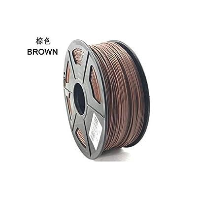 Brown PLA 3D Printer Filament 1.75mm 1KG 3D Plastic Filament 1.75mm Diameter 3D Printing Materials Supplies for Most 3D Printer & 3D Pen