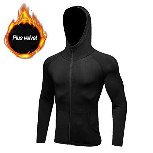 anyilon Men Compression Top Fast Dry Hoodie Sweater Thermal Wintergear Fleece Compression Baselayer Long Sleeve Under Top T Shirts