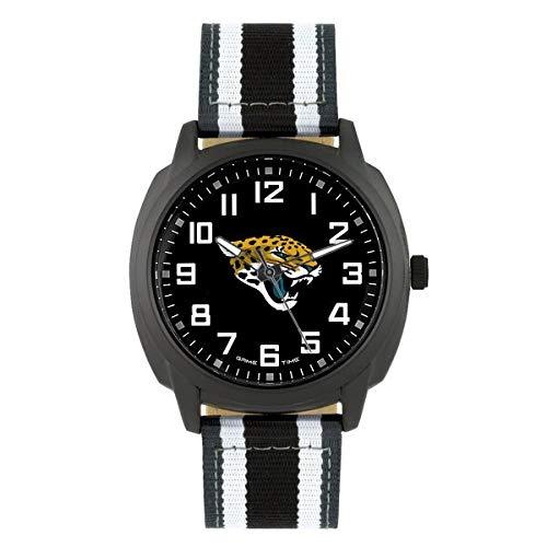 NFL Jacksonville Jaguars Mens Ice Series Wrist Watch, Black, One Size ()