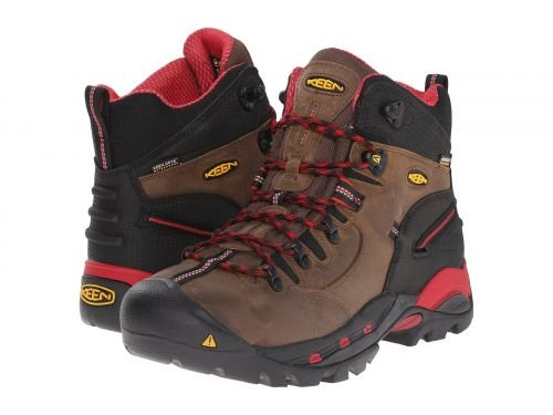 Keen Utility(キーン) メンズ 男性用 シューズ 靴 ブーツ 安全靴 ワーカーブーツ Pittsburgh Boot Bison/Red [並行輸入品] B07BMJ5M2P 10.5 D Medium
