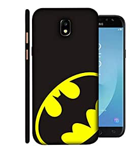 ColorKing Samsung J7 Pro 2017 Case Shell Cover - Batman Black & Yellow