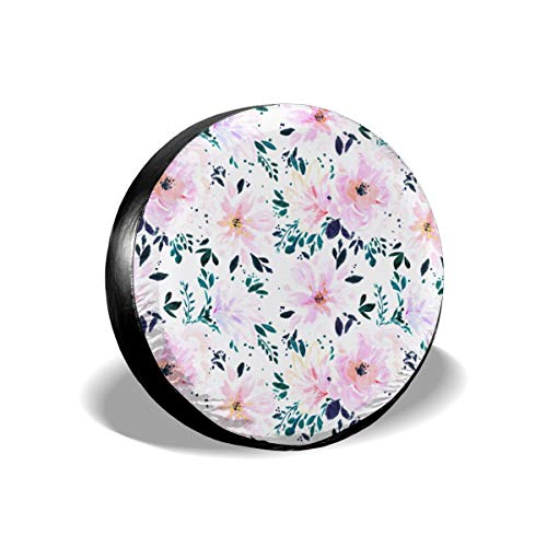 Automotive Tire & Wheel Covers Floral Daydream Spare Wheel Tire Cover Fit Jeep Camper RV SUV Truck Wheel Protectors Accessories 14inch ()