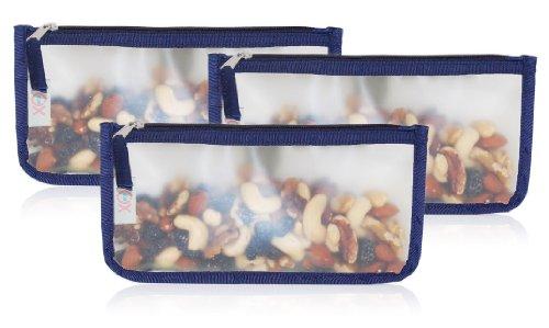 BlueAvocado-XO(ECO) 3-Pack Reusable Zip Snack