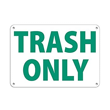 Amazon Com Tollyee Personalized Metal Signs Trash Only Style 1